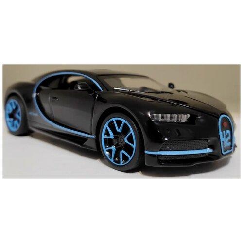 Купить Машинка Bugatti Chiron Бугатти Широн металлическая черная 1:32, MINIAUTO, Машинки и техника