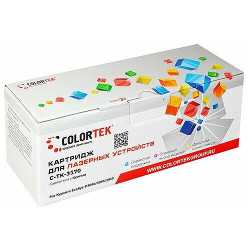Фото - Картридж лазерный Colortek CT-TK-3170 для принтеров Kyocera картридж лазерный colortek ct ar016t для принтеров sharp