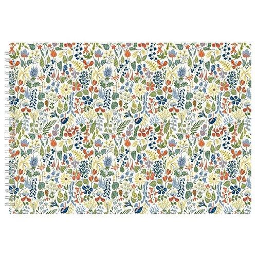 Альбом для рисования, скетчбук Орнамент полевые цветы