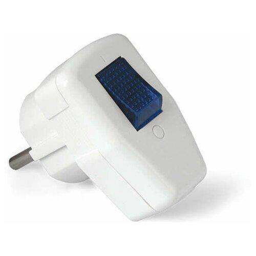 Силовые разъемы Universal Вилка электрич. с выкл. с заземл. 16А 250В бел. UNIVersal 0056
