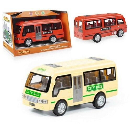 Купить Городской автобус , автомобиль инерционный (со светом и звуком) (в коробке), Полесье, Машинки и техника