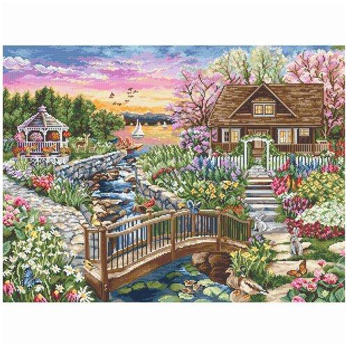 Фото - B2379 Набор для вышивания 'Цветущая весна на озере' 43*32,5см, Luca-S bu4022 набор для вышивания хижина в лесу 43 5 40см luca s