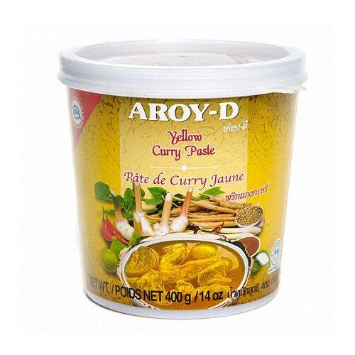 Паста Карри желтая, в пакетике Aroy-D 400 г паста чили с соевым маслом aroy d 260 г