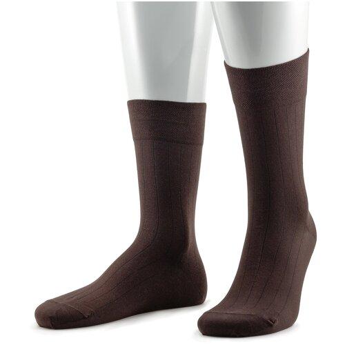 Мужские носки из микромодала Sergio di Calze коричневые, размер 25