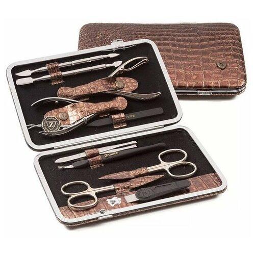 Фото - Профессиональный маникюрный набор Zinger MSFE 804-S, 10 предметов маникюрный набор с косметичкой zinger ms 1205 804 s 10 предметов