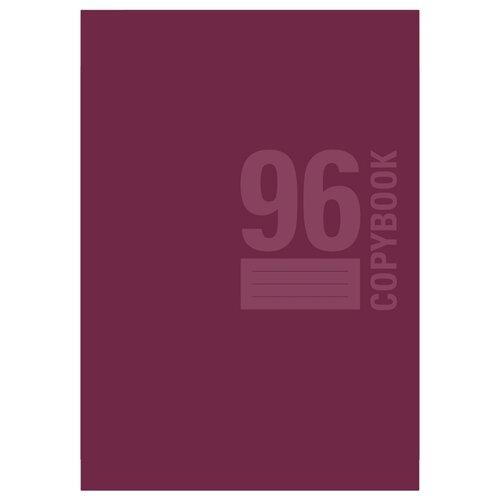 BG Упаковка тетрадей Monotone Т4ск96 8339, 3 шт., клетка, 96 л., бордовый