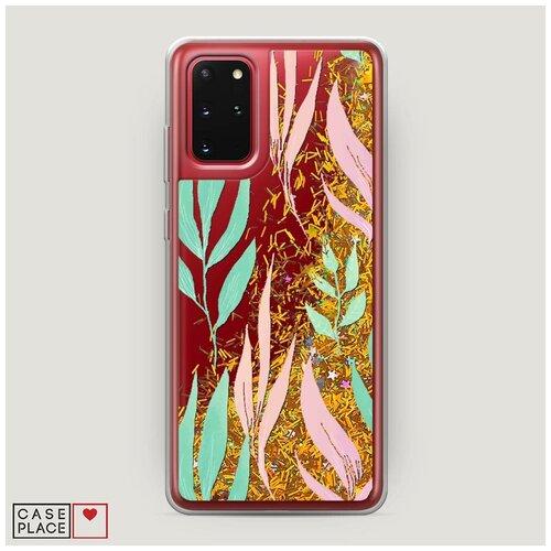 Фото - Чехол Жидкий с блестками Samsung Galaxy S20 Plus Цветочная фантазия 8 чехол жидкий с блестками samsung galaxy s20 plus цветочная фантазия 1