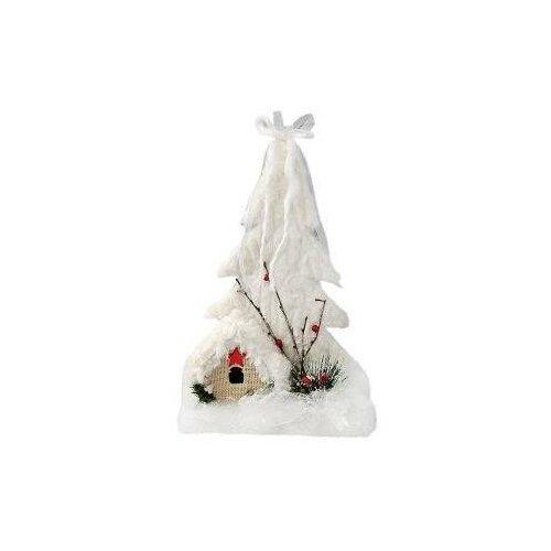 Фигурка Новогодняя сказка Снежный городок, 25 см, мех, (пенопласт) (973017)