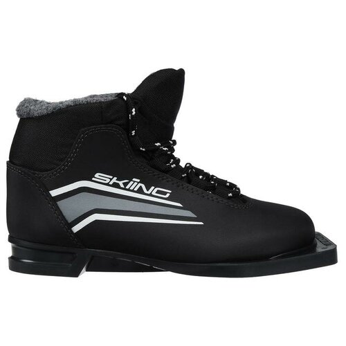 Trek Ботинки лыжные TREK Skiing 1 NN75 ИК, цвет чёрный, лого серый, размер 39