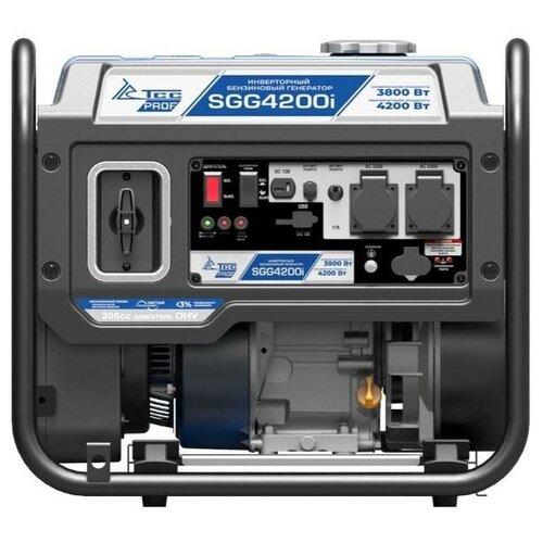 Бензиновый генератор ТСС SGG 4200i (3800 Вт) инверторный бензиновый генератор тсс ggw 5 0 200ed r 22957 сварочный 98кг бензин 5квт 220 12в