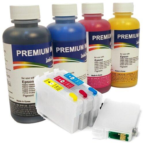 Набор перезаправляемых картриджей с чернилами Inktec для Epson Stylus WF-7015, SX535WD, BX305F, SX525WD, B42WD, BX625FWD, WF-7515, WF-7525
