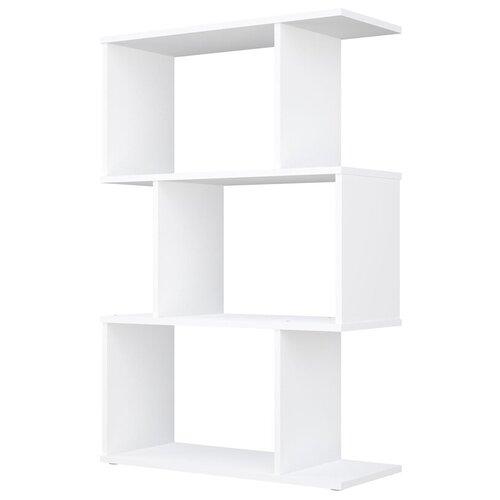 Фото - Стеллаж Polini Home Smart фигурный 3 секции, белый стеллаж 3 секции белый 0 38 0 34 1 11