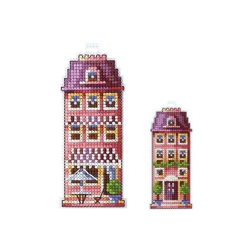 Набор для вышивания Сделай своими руками ССР.Д-17 Домики.Розовый домик 5х12см