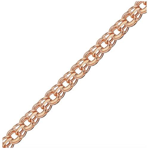 Адамант Браслет золотой плетения Бисмарк Зл585К-2070050, 18 см, 1.43 г