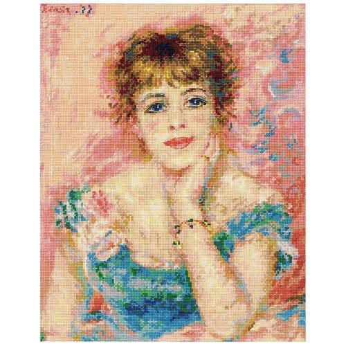 Купить Риолис Набор для вышивания Портрет Жанны Самари по мотивам картины О. Ренуара 30 х 38 см (1439), Наборы для вышивания
