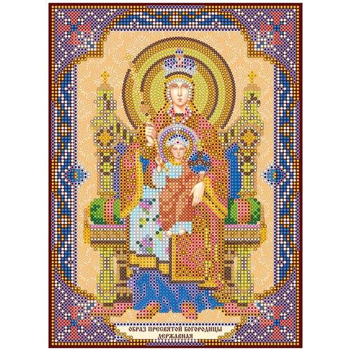 Схема для вышивки иконы бисером на холсте АБРИС АРТ ACK-167 Богородица Державная