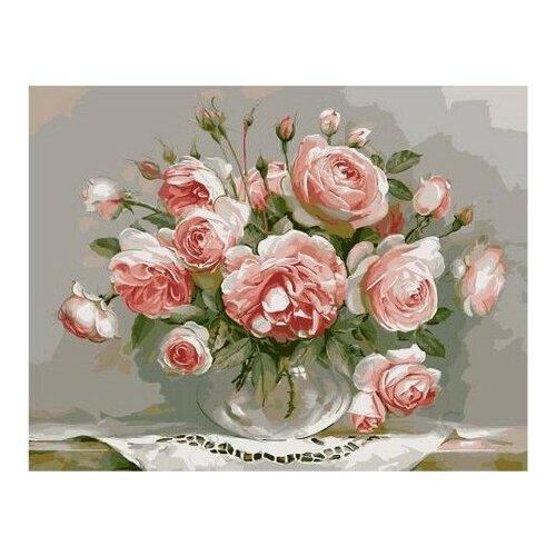 Розы в стеклянной вазочке (Бузин Игорь)