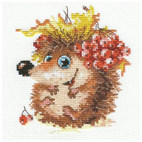 Алиса Набор для вышивания крестиком Осенний ежонок 11 x 12 см (0-75) алиса набор для вышивания басик летчик 10 x 12 см 0 189