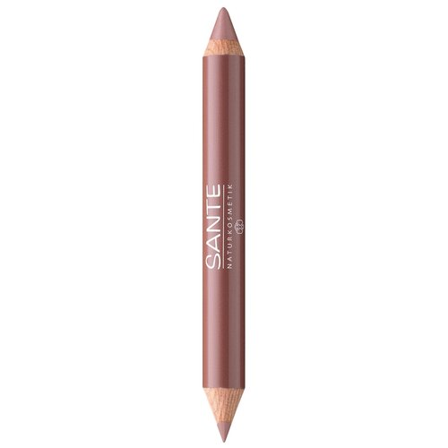 Sante Naturkosmetik помада-карандаш для губ 2 в 1 Lip Duo Contour & Gloss, оттенок 01 nude look недорого