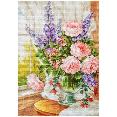 Фото - Luca-S Набор для вышивания Цветы у окна 25 x 34 см (BU4016) набор для вышивания улитка luca s 9 5 x 5 см b005
