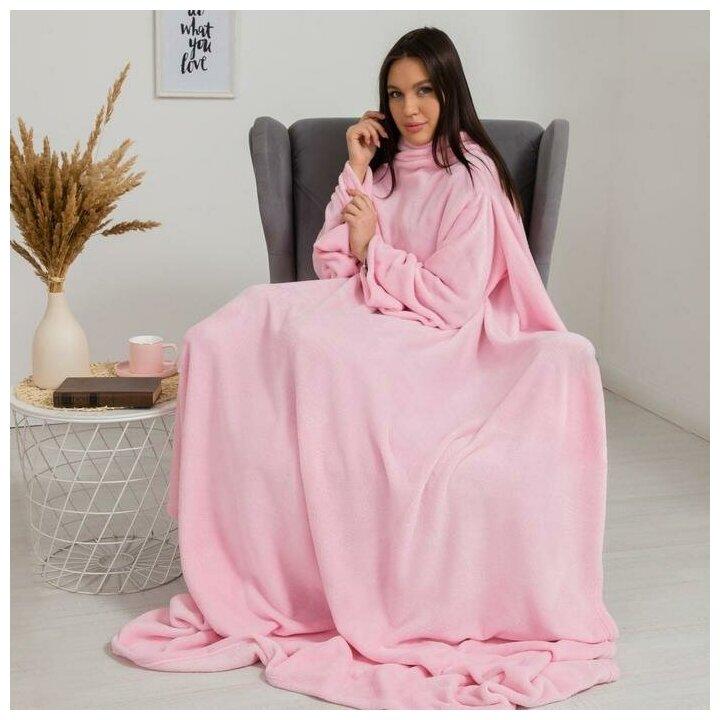 Плед с рукавами Этель 150*200 см, цв. розовый, 100% п/э, корал-флис, 220 гр/м2 6981166 — купить по выгодной цене на Яндекс.Маркете