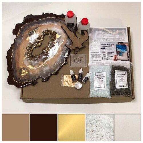 Купить Набор для создания картины эпоксидной смолой ResinArt ResinArtBox Geode 4, Наборы для декупажа