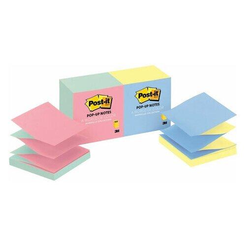 Купить Блоки самоклеящиеся (стикер) POST-IT (Z-Блоки) 76х76 мм, комплект 12 шт. по 100 листов, ассорти, R330-UALT, 1 шт., Бумага для заметок