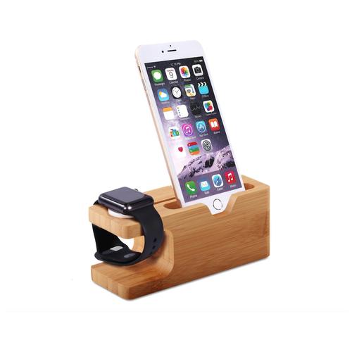 Подставка для зарядного устройства /док-станция/подставка для умных смарт-часов Apple Watch/ iPhone деревянная MyPads