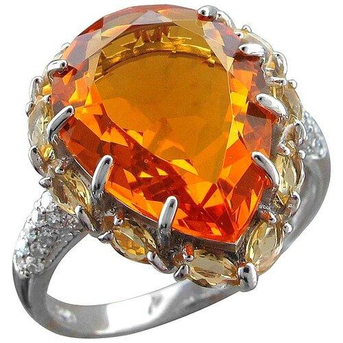 Фото - Эстет Кольцо с фианитами и кристаллом swarovski из серебра С22К251182, размер 19.5 эстет кольцо с кристаллом swarovski и фианитами из серебра с22к250029 размер 17 5