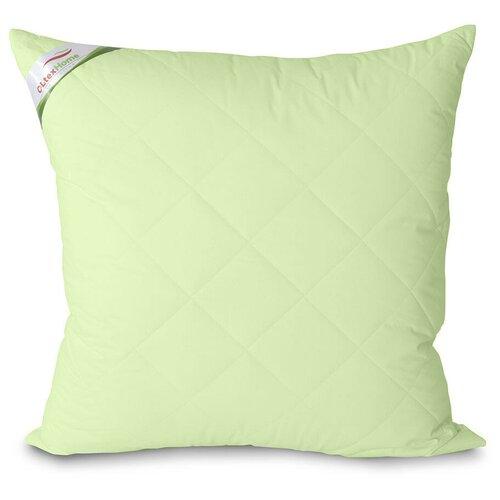 Подушка OL-TEX Бамбук 70x70 стеганный чехол (фисташковое) / Подушка с бамбуковым волокном