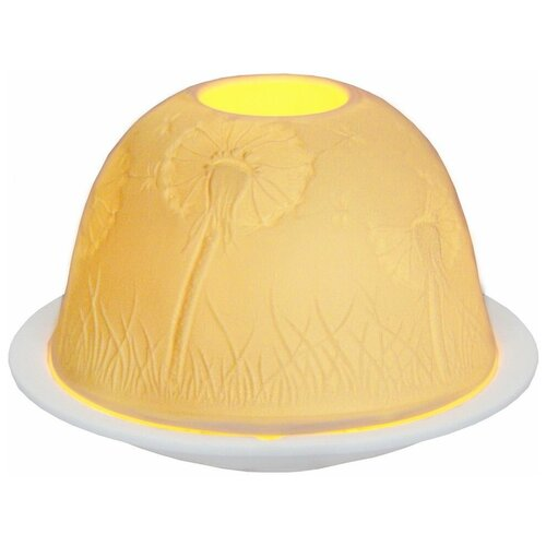 Подсвечник для чайной свечи нежность одуванчиков, фарфор, 8х12 см, SHISHI 30658