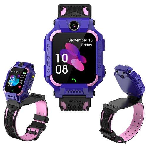 Детские умные смарт-часы Smart Baby Watch Y99A 4G, 2 камеры HD, с GPS трекером, Micro SIM (фиолетовый) детские умные часы телефон с gps smart baby watch df25 голубые