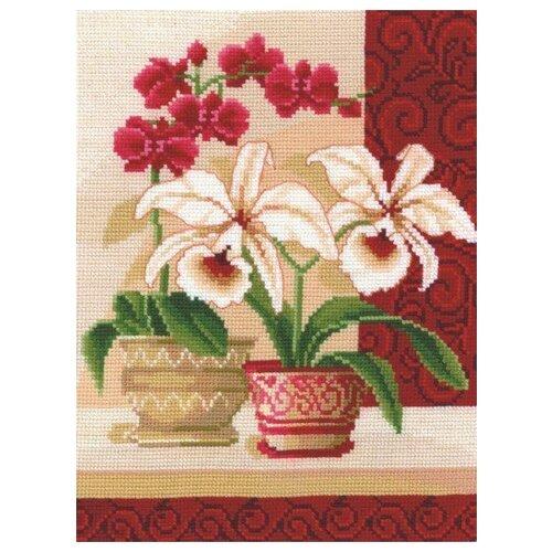 Набор для вышивания Сделай своими руками ССР.И-01 Изящные орхидеи 20х25 см