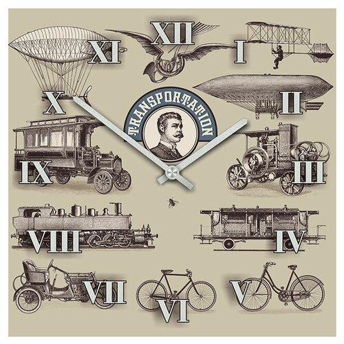 SvS Настенные часы SvS 3501596 Старые виды транспорта