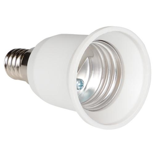 Патрон для лампы Патрон переходник с цоколя E14 на E27 белый для лампы