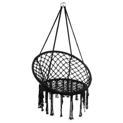 Гамак-кресло подвесное плетеное 80 х 80 х 120 см, цвет черный