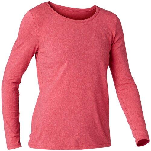 Футболка с длинными рукавами для фитнеса хлопковая NYAMBA Х Decathlon Розовый XXL футболка laredoute с длинными рукавами из хлопкового джерси xxl серый