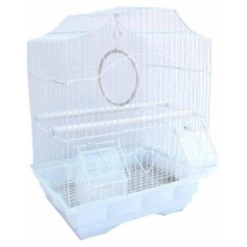 №1 дкпа112 клетка д/птиц фигурная, укомплектованная 30*23*39см