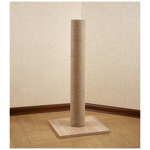 Когтеточка столбик BRAIL / джутовым плетением / светлый дуб 40*40*55 см