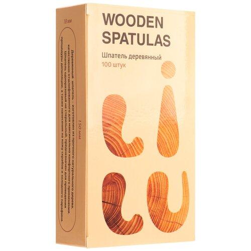 Купить IRISK PROFESSIONAL Irisk, шпатели деревянные в коробке LILU (150х18х1, 5 мм), 100 шт