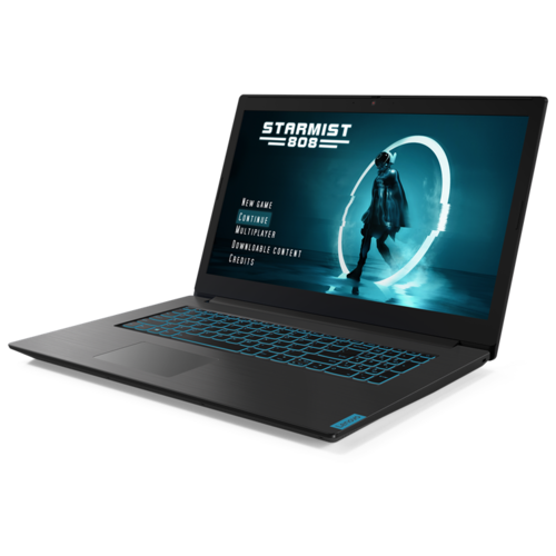 Ноутбук Lenovo IdeaPad L340-17IRH Gaming (Intel Core i5 9300HF/17.3/1920x1080/8GB/1TB HDD + 128GB SSD/NVIDIA GeForce GTX 1650 4GB/DOS) 81LL00KNRK, черный ноутбук asus rog fx553vd e41241 intel core i5 7300hq 4gb 1000gb hdd nvidia geforce gtx 1050 15 6 1920x1080 нет endless черный