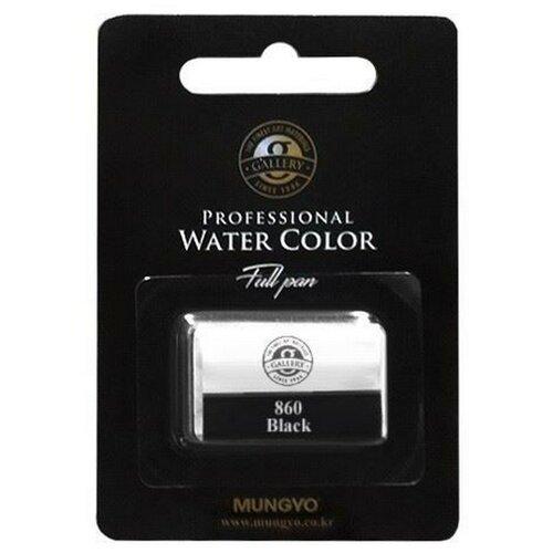 Акварельная краска Mungyo Gallery большие кюветы, в блистере цвет черный MGMWPF860