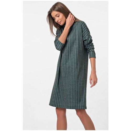 Платье FLY. размер 46, полоска на зеленом