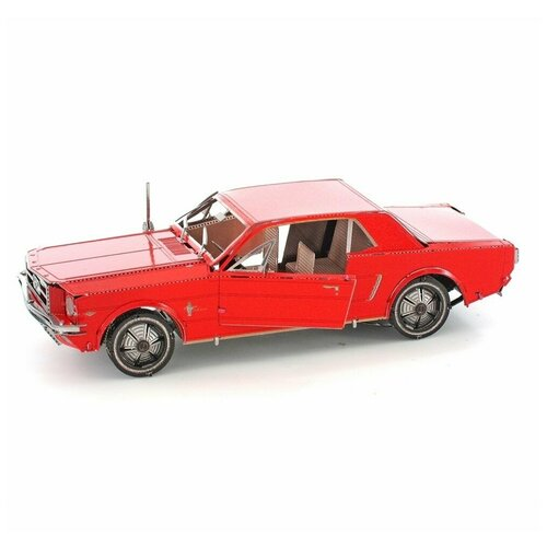 Купить Металлический 3D конструктор машина Форд Мустанг 1965 красный (Ford Mustang Metal Earth), Fascinations, Сборные модели