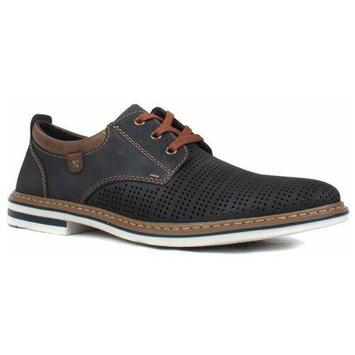 Туфли Rieker , размер 45 , темно-синий туфли блестящие с цветочком темно синий
