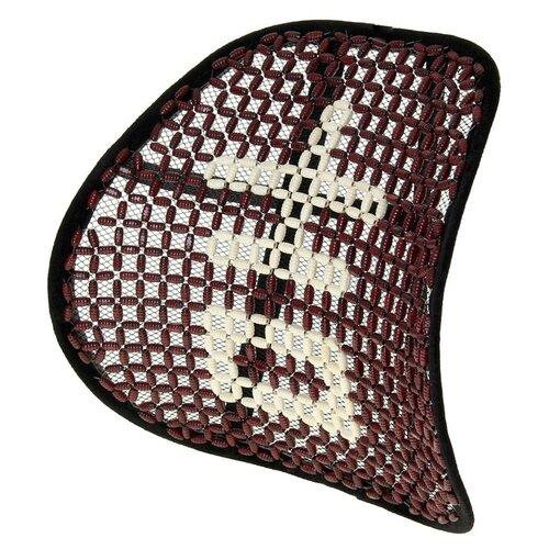 Ортопедическая спинка на сиденье упругая на сиденье 38x39 см, дерево, красно-белый 856154