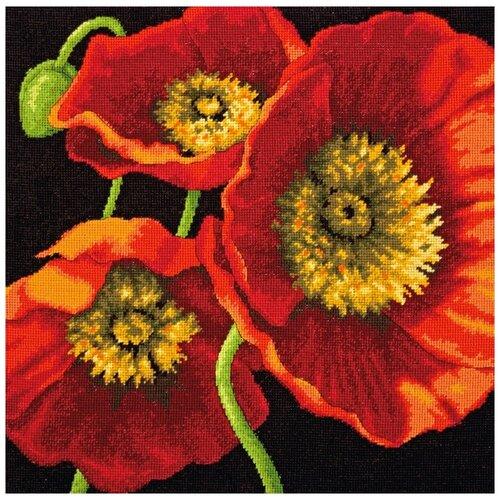 Фото - Dimensions Набор для вышивания Трио красных маков 35 x 35 см (71-20073) набор для вышивания dimensions 03896 уютное укрытие46 x 23 см