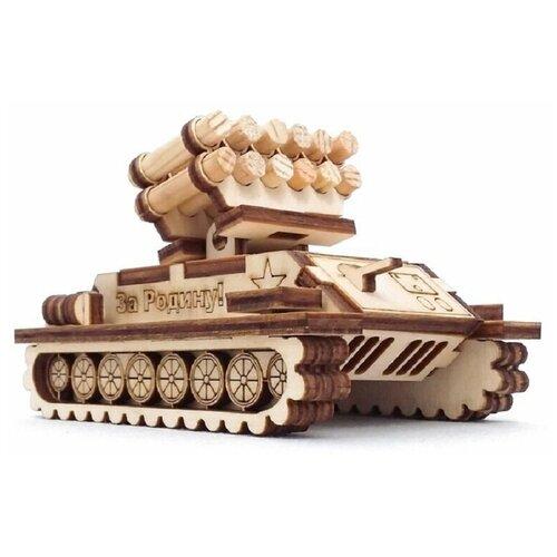 сборная модель мир деревянных игрушек ракетная установка п052 Сборная модель - ракетная установка