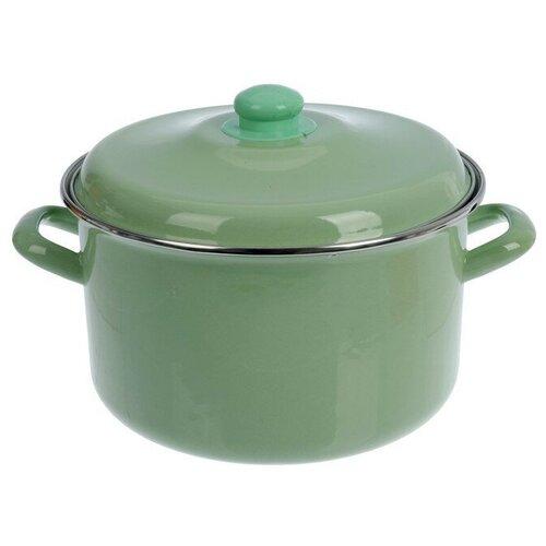 Кастрюля Интерос Мята, 6 л, светло-зеленый