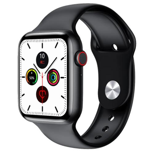 Умные часы Smart Watch W34+ черные с функцией мониторинга Температуры тела, пульса сердца, шагометр умные часы c gps iwo smart watch iwo 11 черный